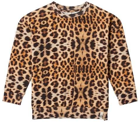 Popupshop Leopard Print Classic Loose Sweater