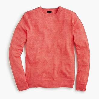 J.Crew Cotton-linen heather crewneck sweater