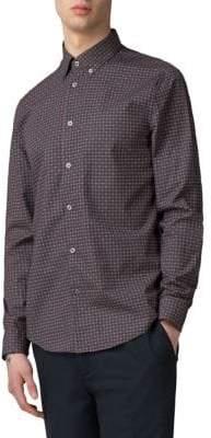 Ben Sherman Foulard-Print Cotton Sport Shirt