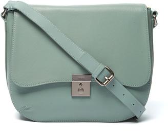 Sage Assembly Leather Messenger Bag $168 thestylecure.com