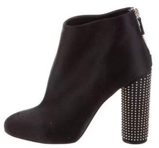 Stella McCartney Satin Embeliished Ankle Boots