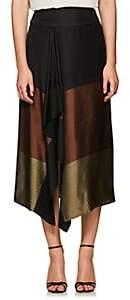 Zero Maria Cornejo Women's Striped & Colorblocked Midi-Skirt - Black