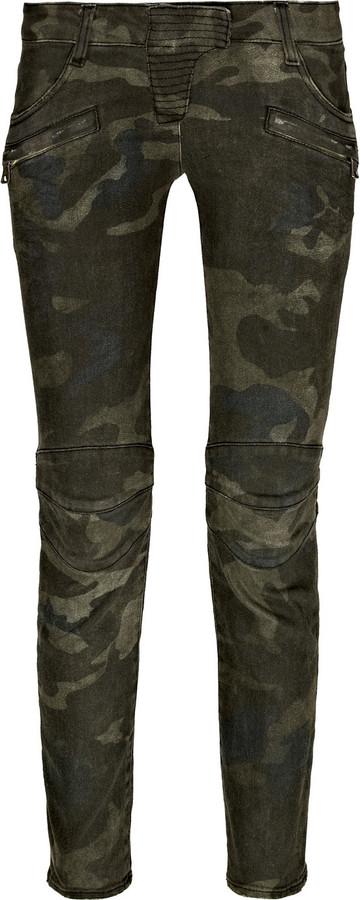 Balmain Stretch-cotton camouflage pants