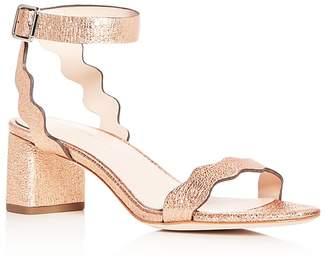 Loeffler Randall Women's Emi Leather Ankle Strap Block Heel Sandals