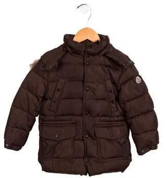 Moncler Boys' Fur-Trimmed Puffer Coat