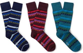 Paul Smith Three-Pack Stretch Cotton-Blend Socks