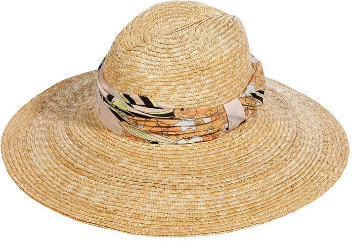Emilio Pucci Natural/Blush Straw Hat