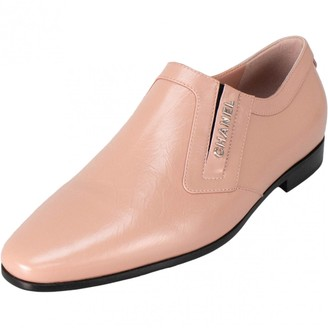 Chanel Pink Leather Flats