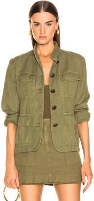 Nili Lotan Cambre Jacket in Uniform Green | FWRD