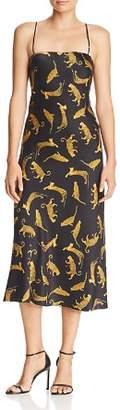 Bec & Bridge Conga Beat Printed Silk Midi Dress