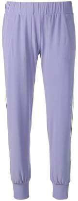 Norma Kamali side stripe track pants