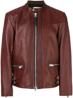 Coach Burnished Leather Racer jacket