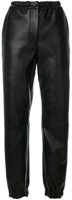Stella McCartney leather effect track pants