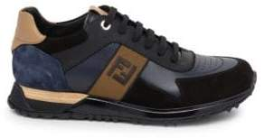Fendi Embroidered Colorblock Sneakers