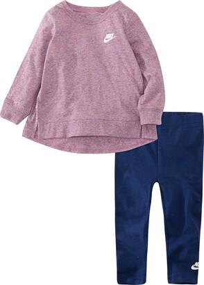 Nike Slub Jersey Tunic & Leggings Set