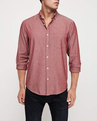 Express Classic Chambray Soft Wash Button-Down Shirt