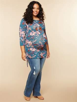 Jessica Simpson Motherhood Maternity Plus Size Secret Fit Belly Boot Cut Maternity Jeans
