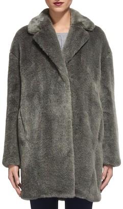Whistles Faux Fur Cocoon Coat $520 thestylecure.com