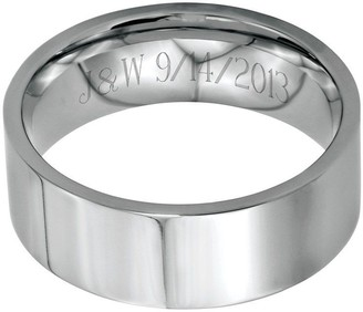 Steel By Design Stainless Steel 8mm Flat Polished Engravable Ring