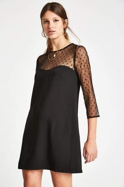 Penny Mesh Sleeve Dress