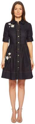 Kate Spade Embroidered Denim Shirtdress Women's Dress