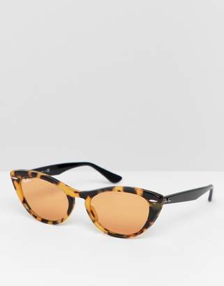 Ray-Ban 0RB4314N slim cat eye sunglasses