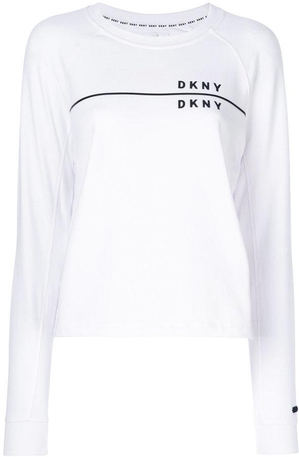 DKNY branded long-sleeved sweatshirt