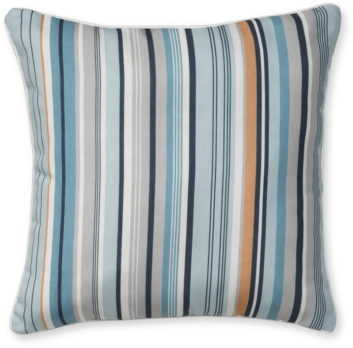 Williams-Sonoma Outdoor Printed Pillow, Blue Striped