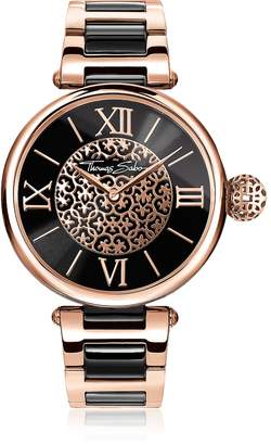 Thomas Sabo Karma Rose Gold and Black Stainless Steel Women's Watch