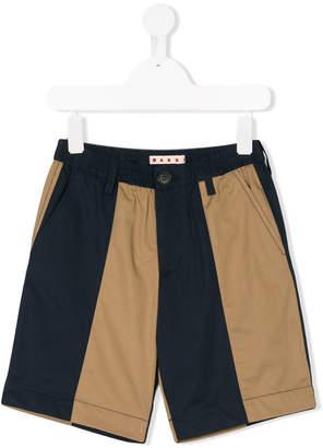 Marni contrast panel shorts