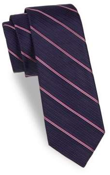 Saks Fifth Avenue Stripe Silk Tie
