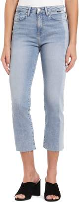 Mavi Jeans Niki Colorblock Raw Hem Crop Jeans