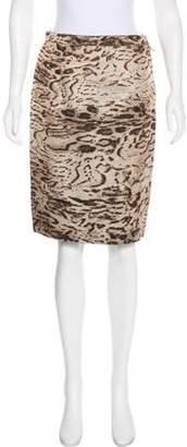 Lanvin Silk-Blend Skirt Tan Silk-Blend Skirt