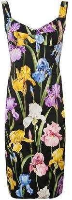 Dolce & Gabbana Iris Print Bustier Dress