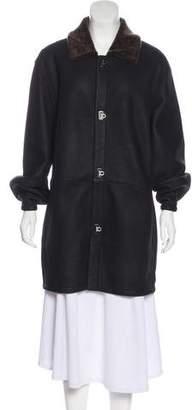 Salvatore Ferragamo Leather Short Coat