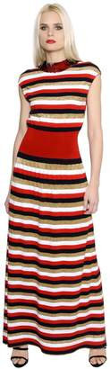 Sonia Rykiel Sequin & Lurex Striped Knit Dress