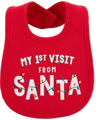 Carter's Baby Boys or Baby Girls Santa Visit Bib