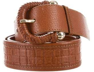 Burberry Woven Leather Waist Belt