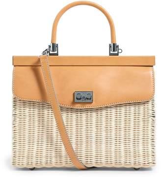 Rodo Wicker Willow Top Handle Bag