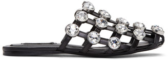 Alexander Wang Black Amelia Sandals $695 thestylecure.com