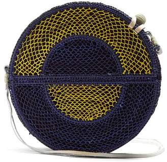 Sophie Anderson - Nilsa Woven Straw Cross Body Bag - Womens - Blue Multi