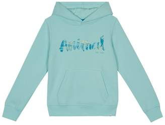 Animal Girls' Pale Green Logo Print Hoodie