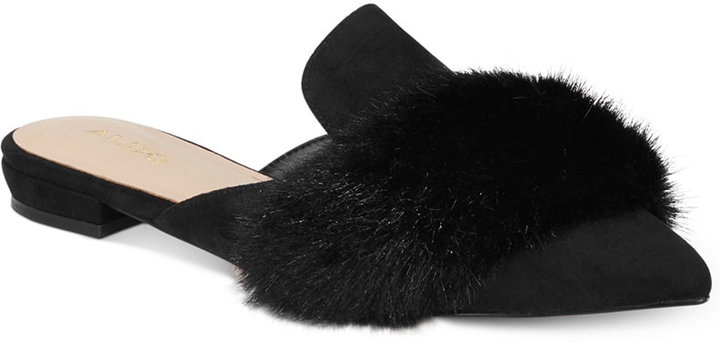 Aldo Dorriety Faux-Fur Mules Women's Shoes