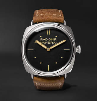 Panerai Officine Radiomir S.l.c. 3 Days Acciaio 47mm Steel And Leather Watch