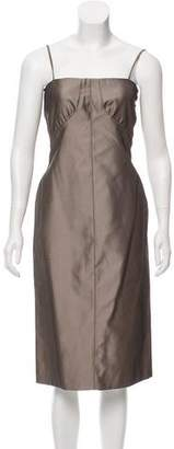Calvin Klein Collection Silk Midi Dress