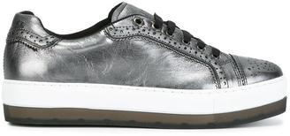 Diesel platform metallic sneakers $187.93 thestylecure.com