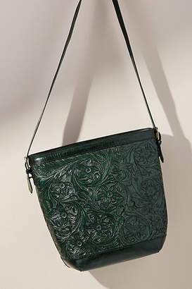 Antik Batik Embossed Leather Bucket Bag
