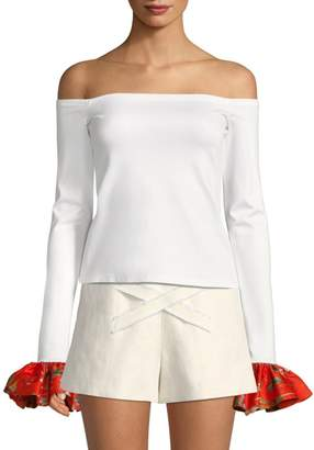 Alexis Kirin Off-The-Shoulder Bell-Sleeve To