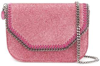 Stella McCartney Falabella Box glittered shoulder bag