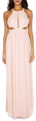TFNC Evanthe Cutout Chiffon Gown